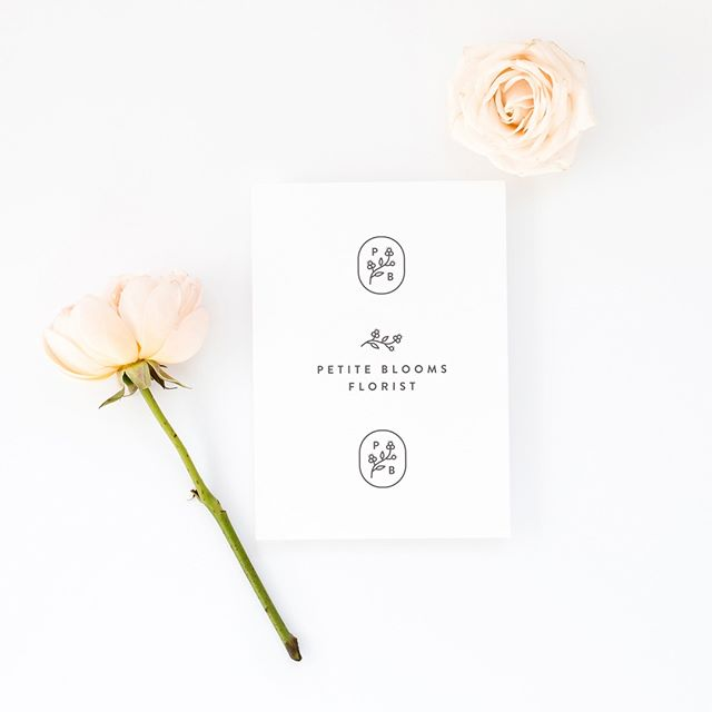 I love creating logos for all different kinds of start-ups and small businesses, but there's just something about floristry branding that I can't get enough of!💐 . . Here's a logo and submark for Petite Blooms Florist, a conceptual project I absolutely loved working on earlier this year😍