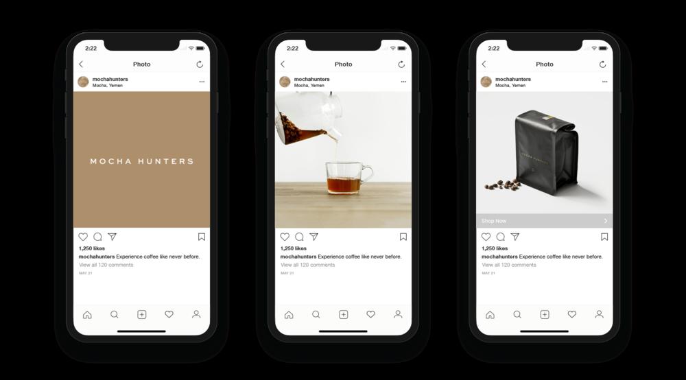 Mocha Hunters Social Media Designs