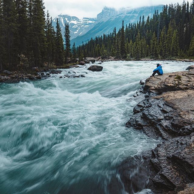 "The Story: Mistaya Canyon is a beautiful area and lesser-visited gem along the Icefields Parkway in Banff, Alberta. A short walk down the hill from the parking area gets you to the canyon with gorgeous falls. This is a ""don't miss it"" spot!! (📸 @danielemolineris)"