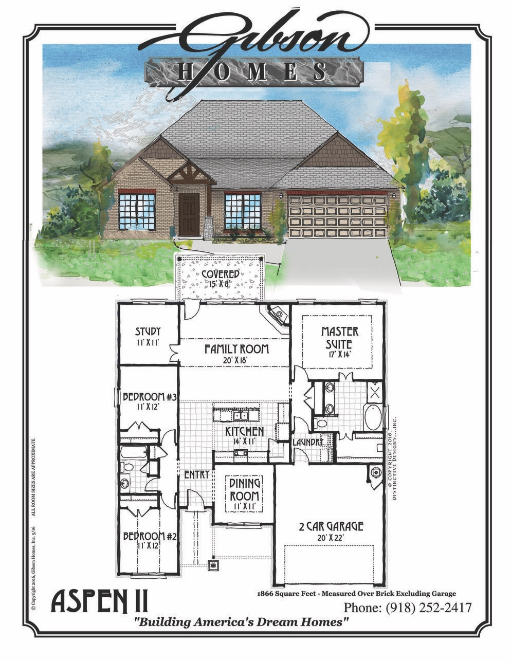 ASPEN II - 1866 Sq. Feet3 bedroom2 bathrooms2 car garageStudyDining RoomBase Price $180,000