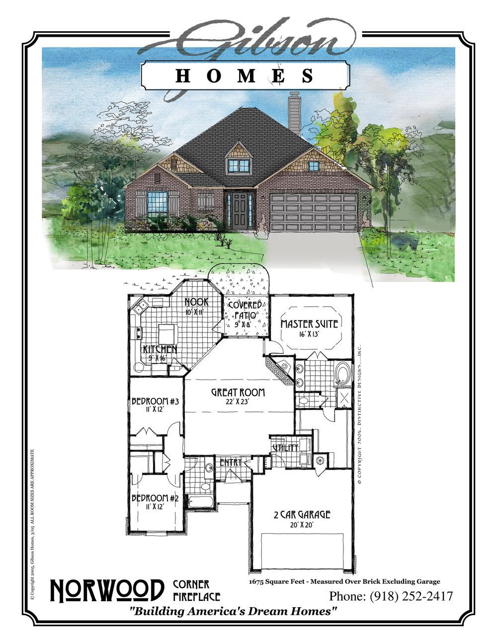 NORWOOD - 1694 Sq. Feet3 bedrooms2 bathrooms2 car garageBase Price $169,000