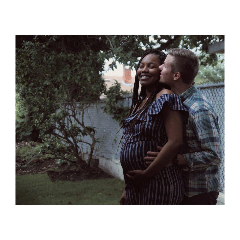 interracial maternity shoot