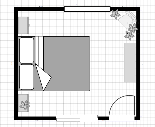 guest room floor plan