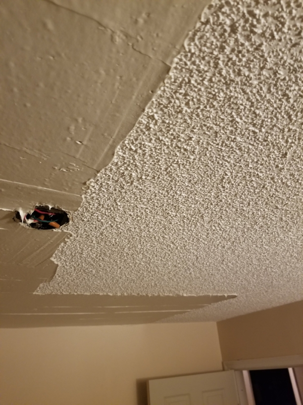 Popcorn Ceiling Removal -