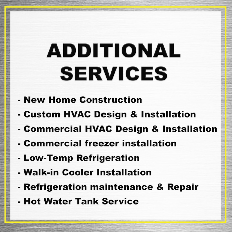 Additional HVAC Services