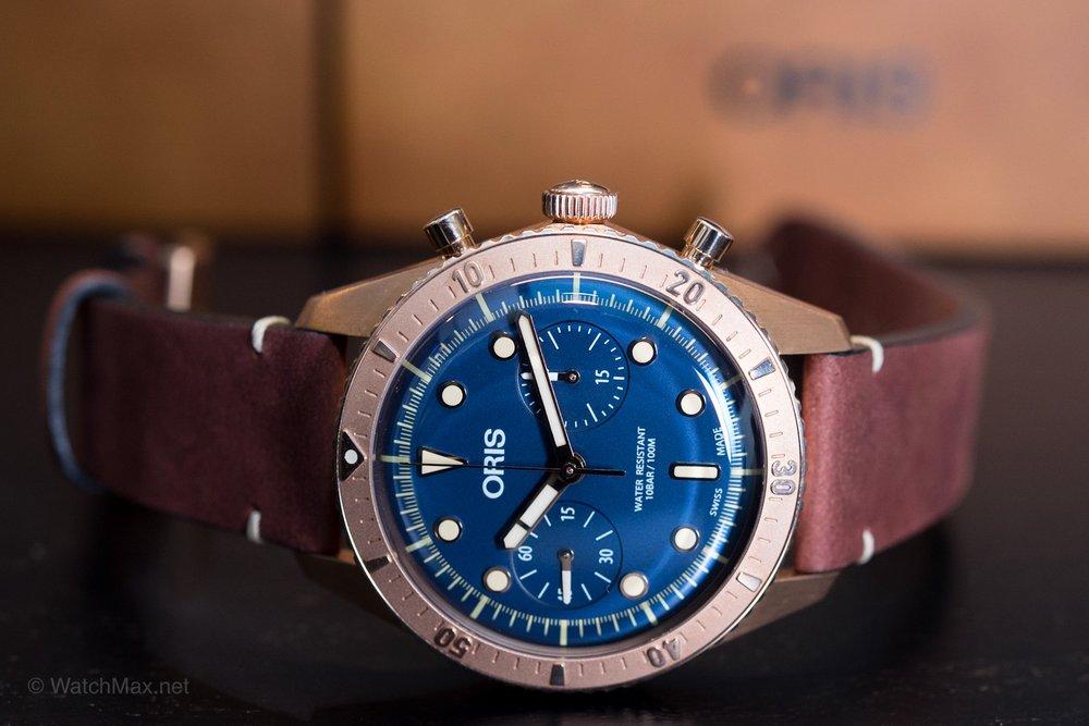 "Second Oris diver SixryFive ""Carl Brashear"" chronograph limited edition"