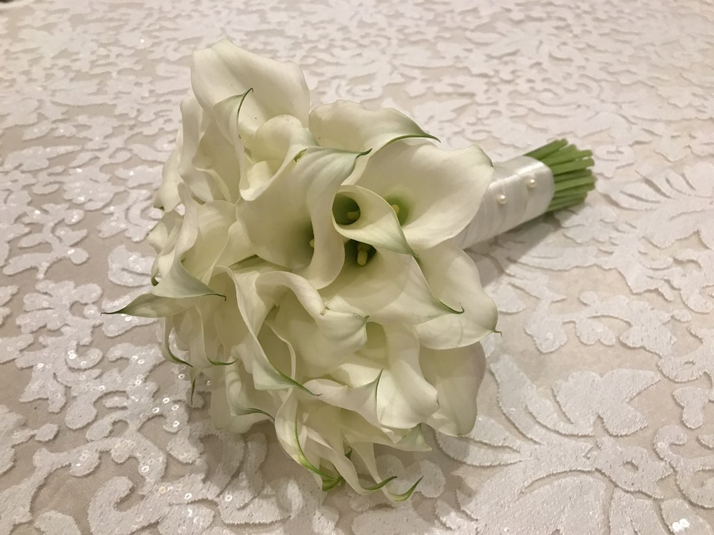 Bridal Bouquet made with cala lily