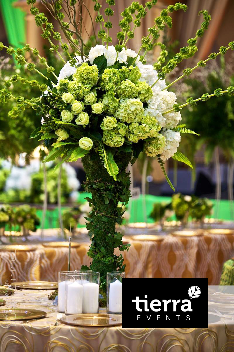 Green Tall Centerpiece
