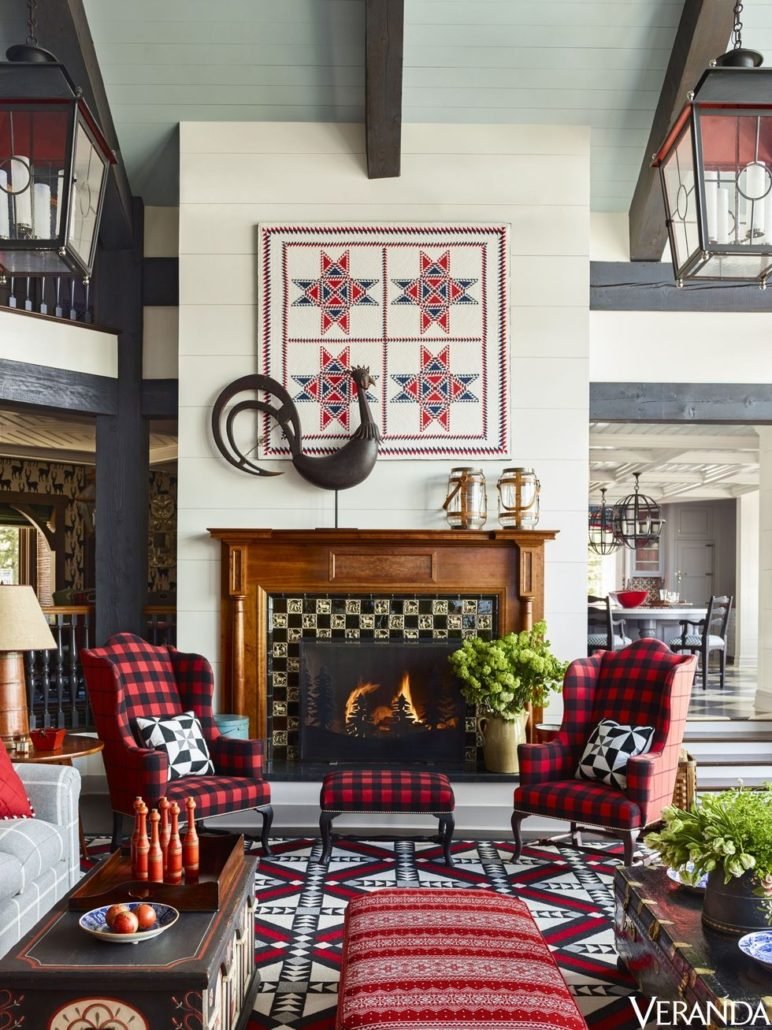 A Tony Baratta-designed ski house in Utah, packed with plaid perfection.