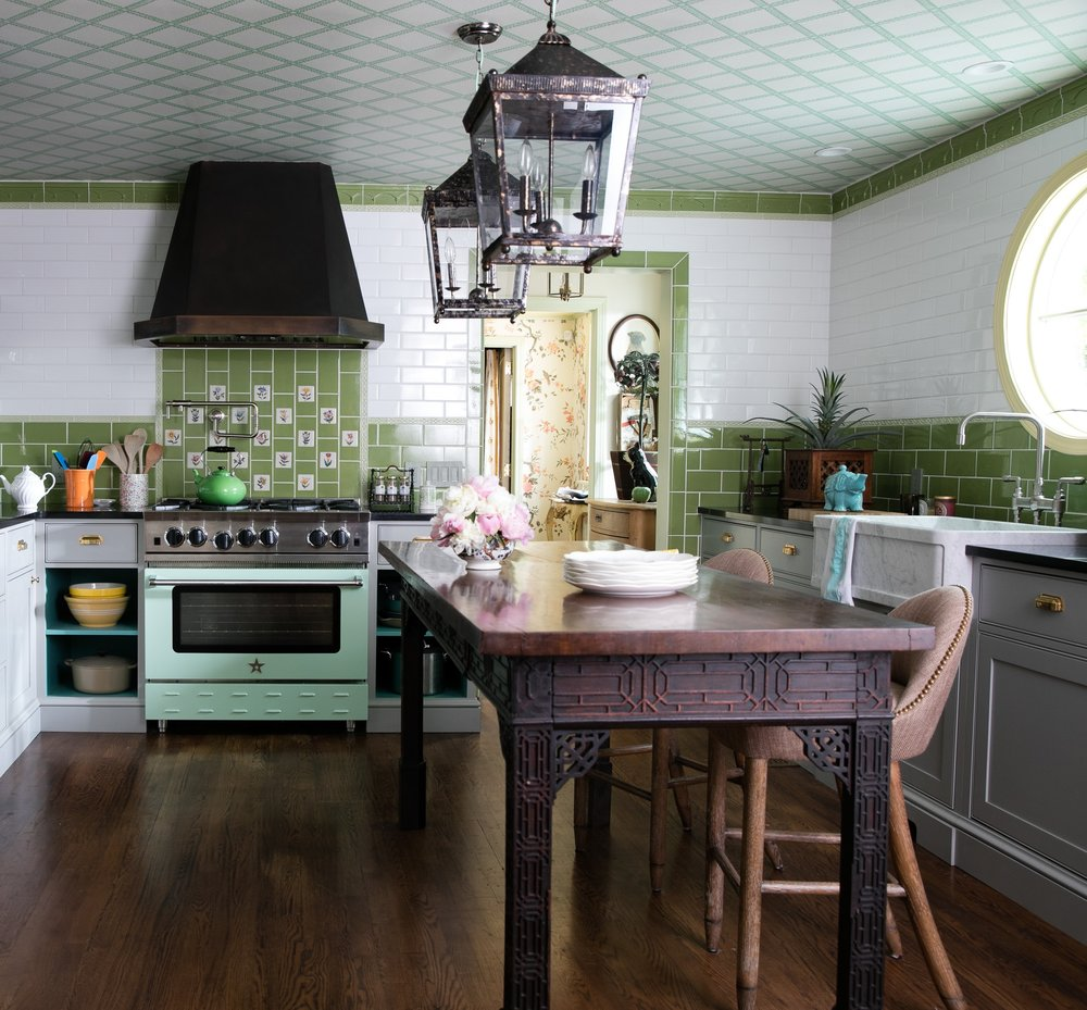 The fabulous BlueStar Cooking range in the House of Bedlam kitchen.
