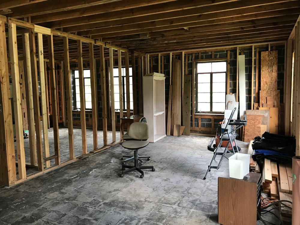 Here's the interior of the new Madcap HQ at purchase. We will have the original concrete floors polished.