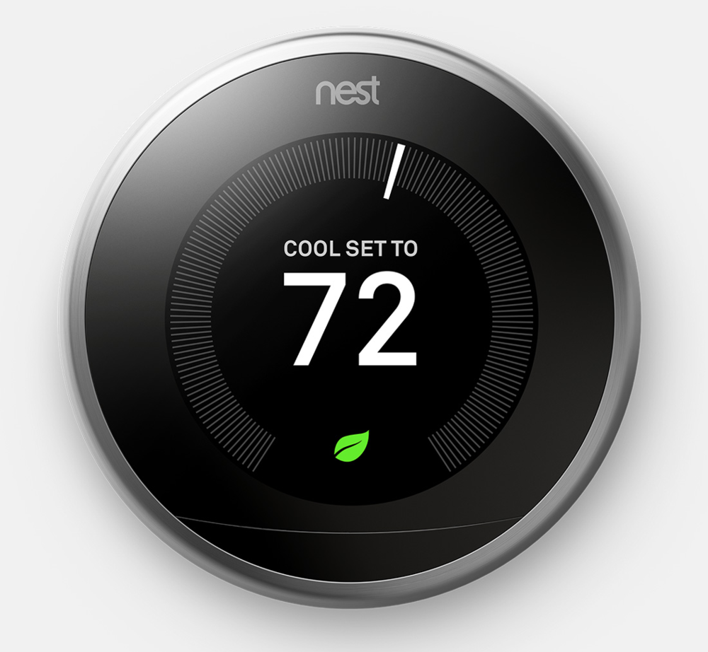 Off the Wall - Tired of that dated thermostat creating an eyesore on your wall? Want to save electricity and control your AC usage from afar? Turn to the Nest Learning Thermostat ($249). Sleek and stylish, the Nest unit helps save energy, and you can control it from anywhere with the Nest app. Now that's technology makes sense!
