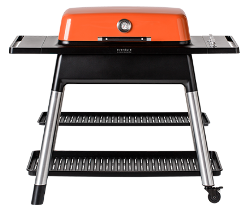Orange Crush - Bring form and function to the backyard with the Everdure by Heston Blumenthal The Furnace Grill in eye-popping Orange ($899.95). This innovative grill — designed in tandem with British superstar chef Heston Blumenthal — fully ignites and heats quickly while three interchangeable cast-iron flat plates and grill plates provide numerous cooking options. Plus, the grill looks like a million bucks. Williams Sonoma, 3320 W. Friendly Ave., Greensboro, (336) 294-2063.