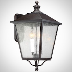 """Belleaire 20 1/2"""" High Bronze 2-Light Outdoor Wall Light"""