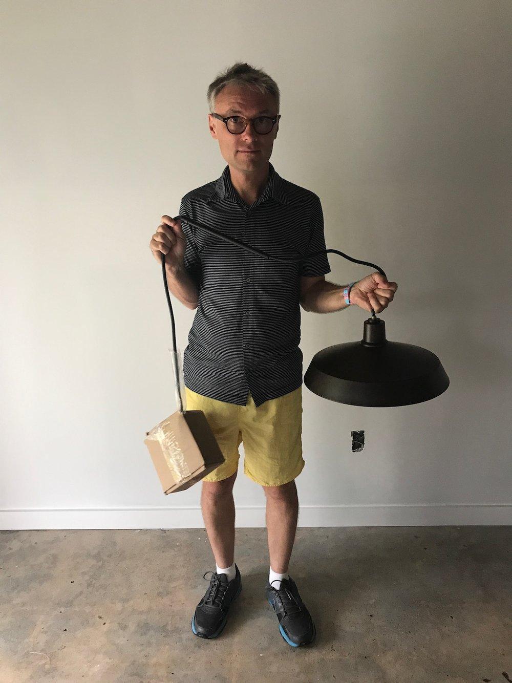 "Lamps Plus Warm Bronze 15"" Wide Industrial Pendant Lights"