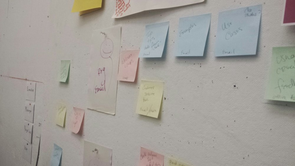 Classic customer experience move. I've got the online blueprint, but the post-its just make the magic happen. // Taken by TF