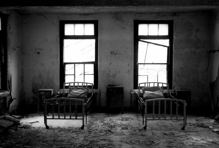 Norwich State Hospital. Expired B&W. Contax TVS.
