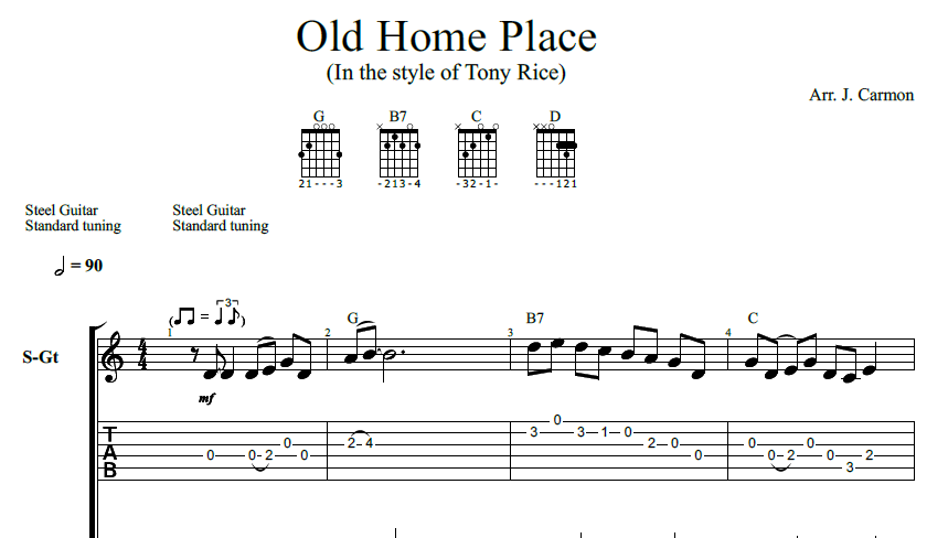 Old Home Place (guitar tab)