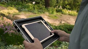 Mobilize - One quick snap secures your iPad in the frame and you're ready to roll (digitally speaking, of course).