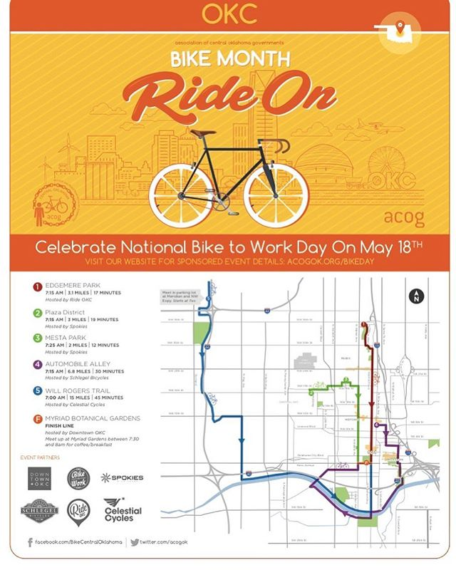 National Bike to Work Day, May 18! Pick a route close to home, or meet us at the shop and ride with us! Coffee and breakfast provided at the Myriad! #biketowork #automobilealley #rideordie #bicycle #schlegelbicycles
