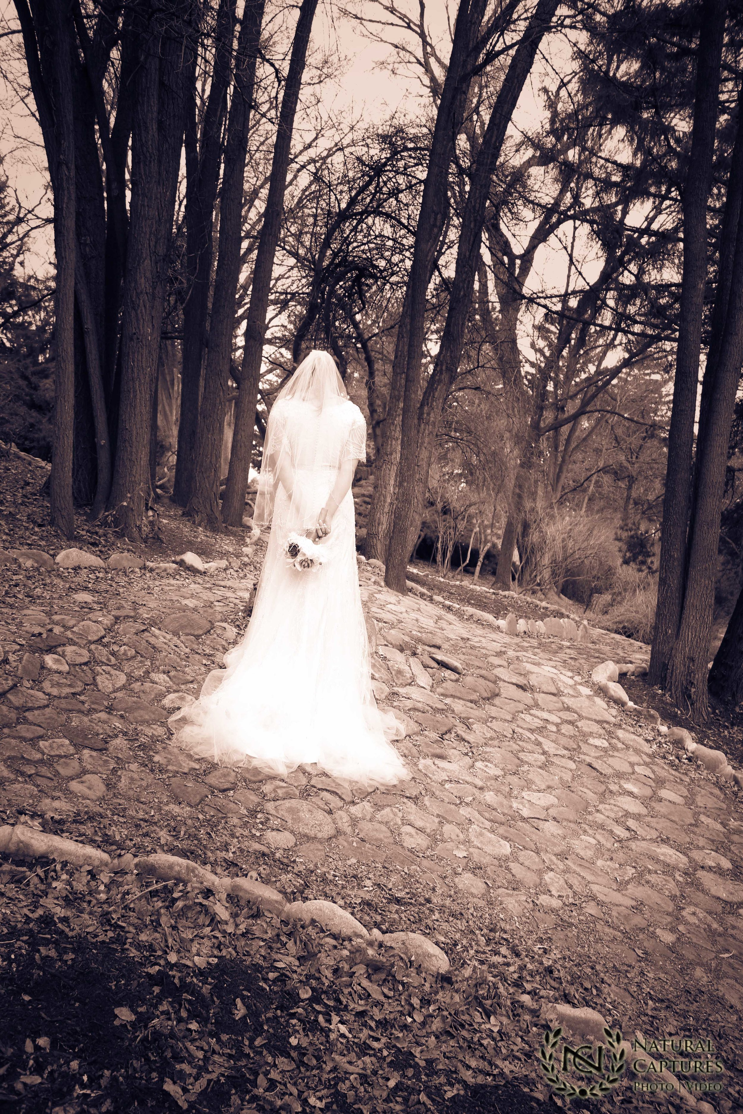 Surreal wedding photo