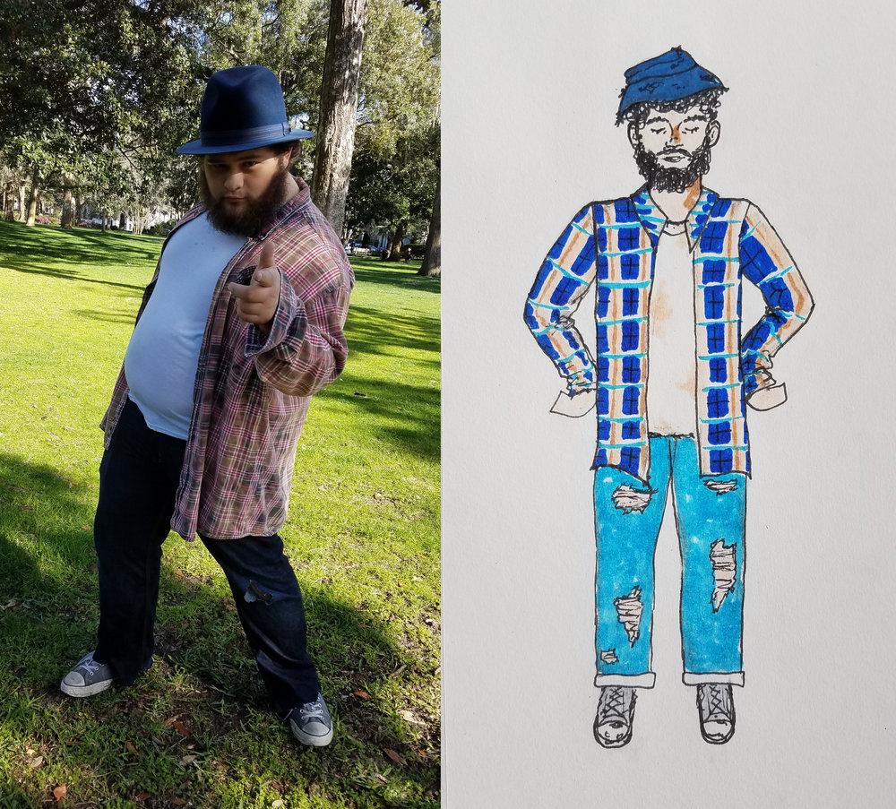 Homeless Man Character