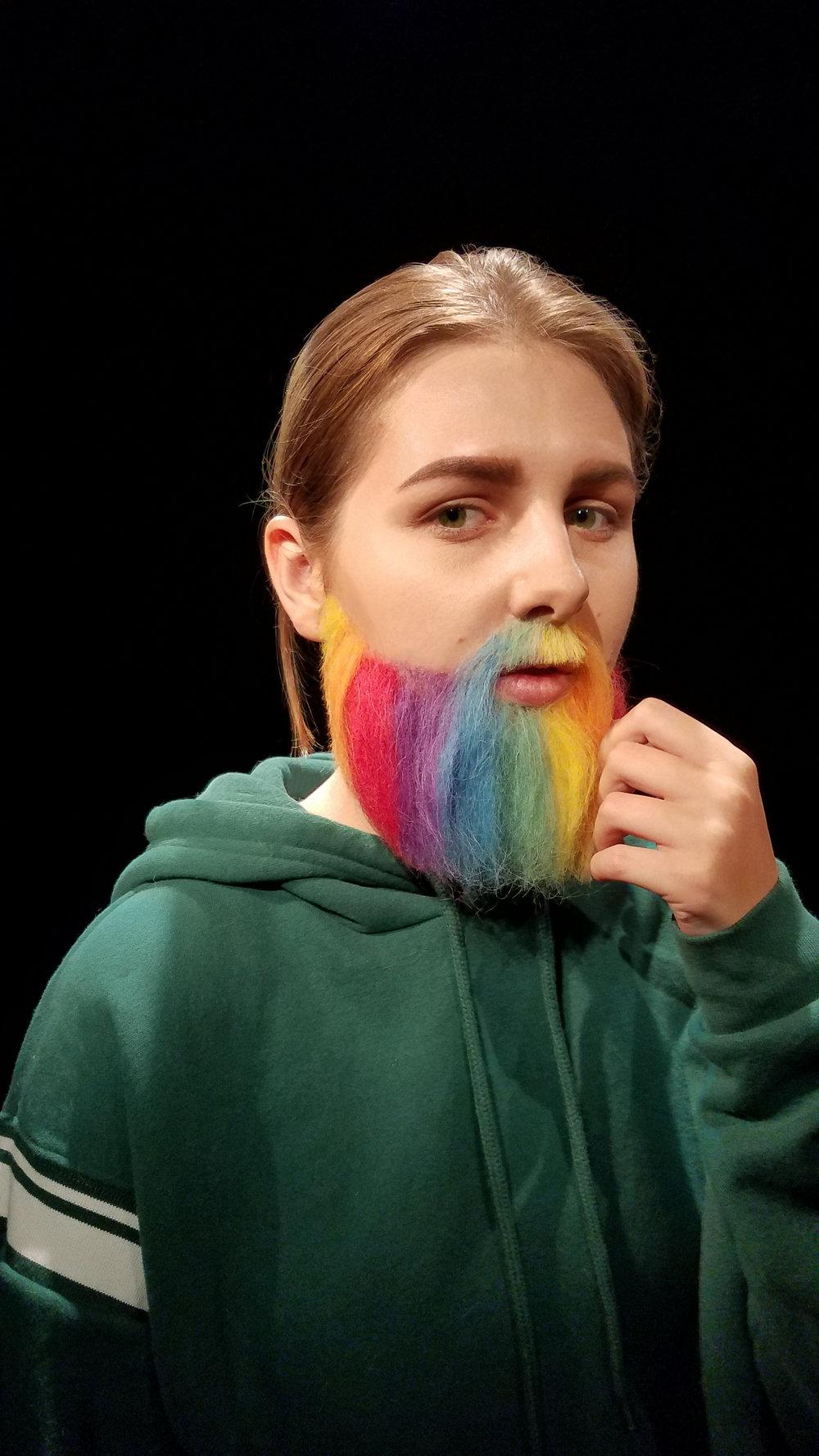 Rainbow Pride Beard