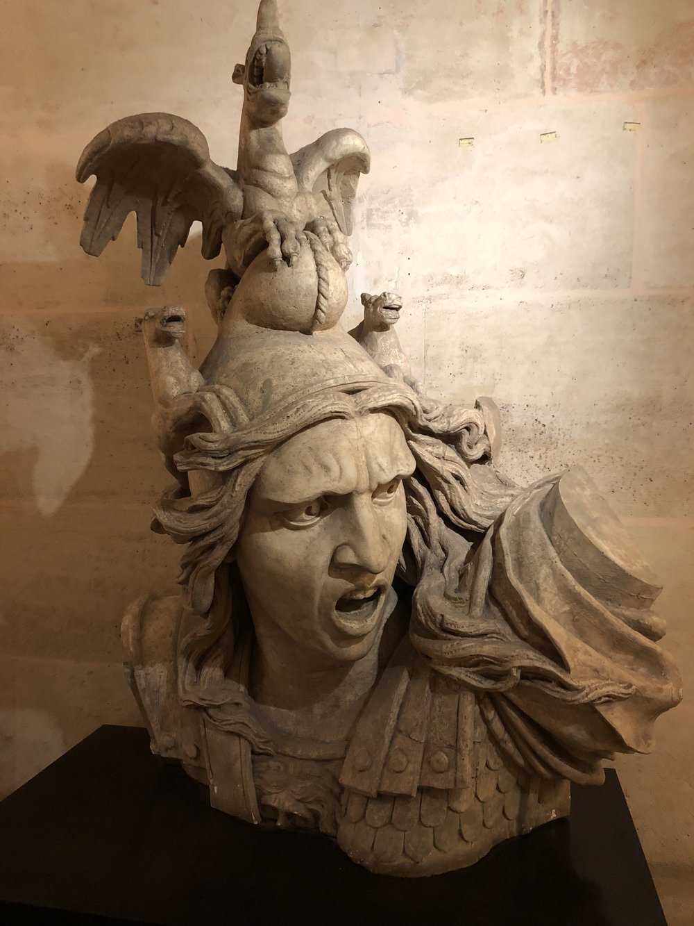 "Stored inside the  Arc de Triomphe , presumably a backup bust of  Le Depart  de  Volontaires   de 1792  (aka ""La Marseillaise"")."