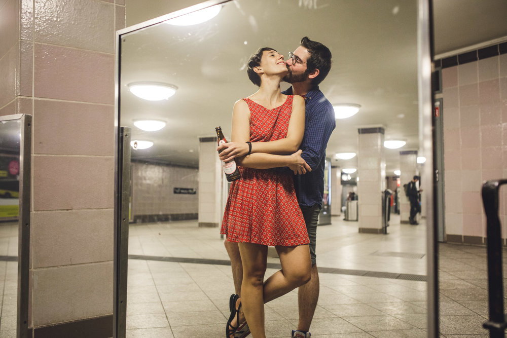 berlin couples session, turkish market berlin, berlin subway couple session, charlotte wedding photographer,