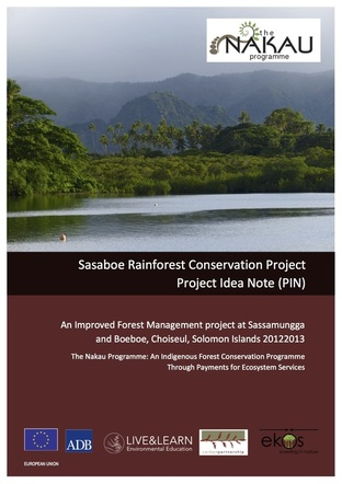 The first step in project development is the preparation of a Project Idea Note (PIN) for project registration with the Plan Vivo Standard. The Sasaboe Project PIN can be downloaded by clicking on the document above. The next document to be released is the Project Description (PD) - a detailed proposal quantifying the benefits to be produced by the project once implemented. The PD is split into two parts. Part A General Description involves the application of the Nakau Methodology Framework to the project site.
