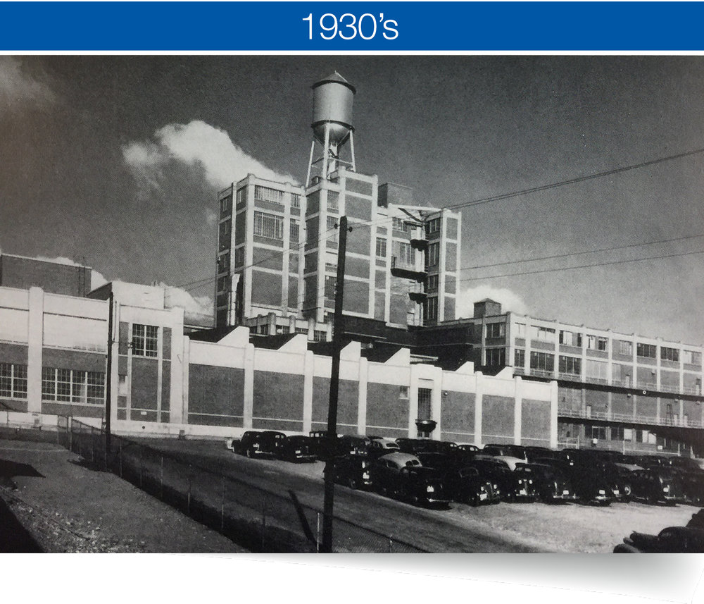 rapid expansion - By the 1930's, the company really hit a stride opening numerous facilities around the city including a massive new plant that was the largest building in Binghamton.
