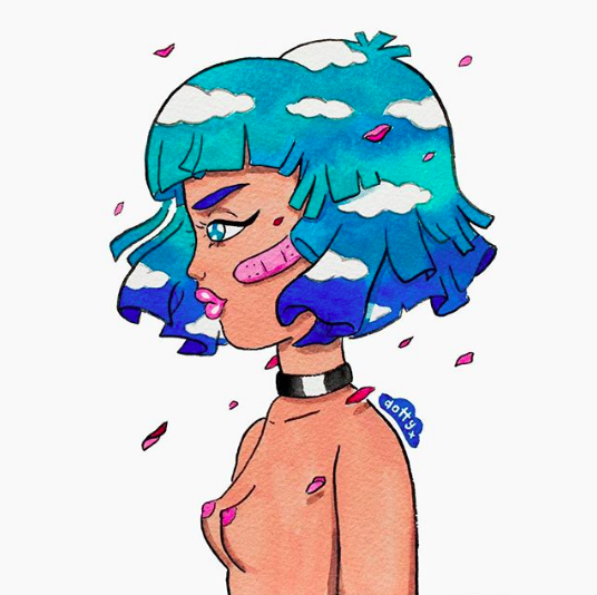 DizzyLittleDotty- Blue Babe
