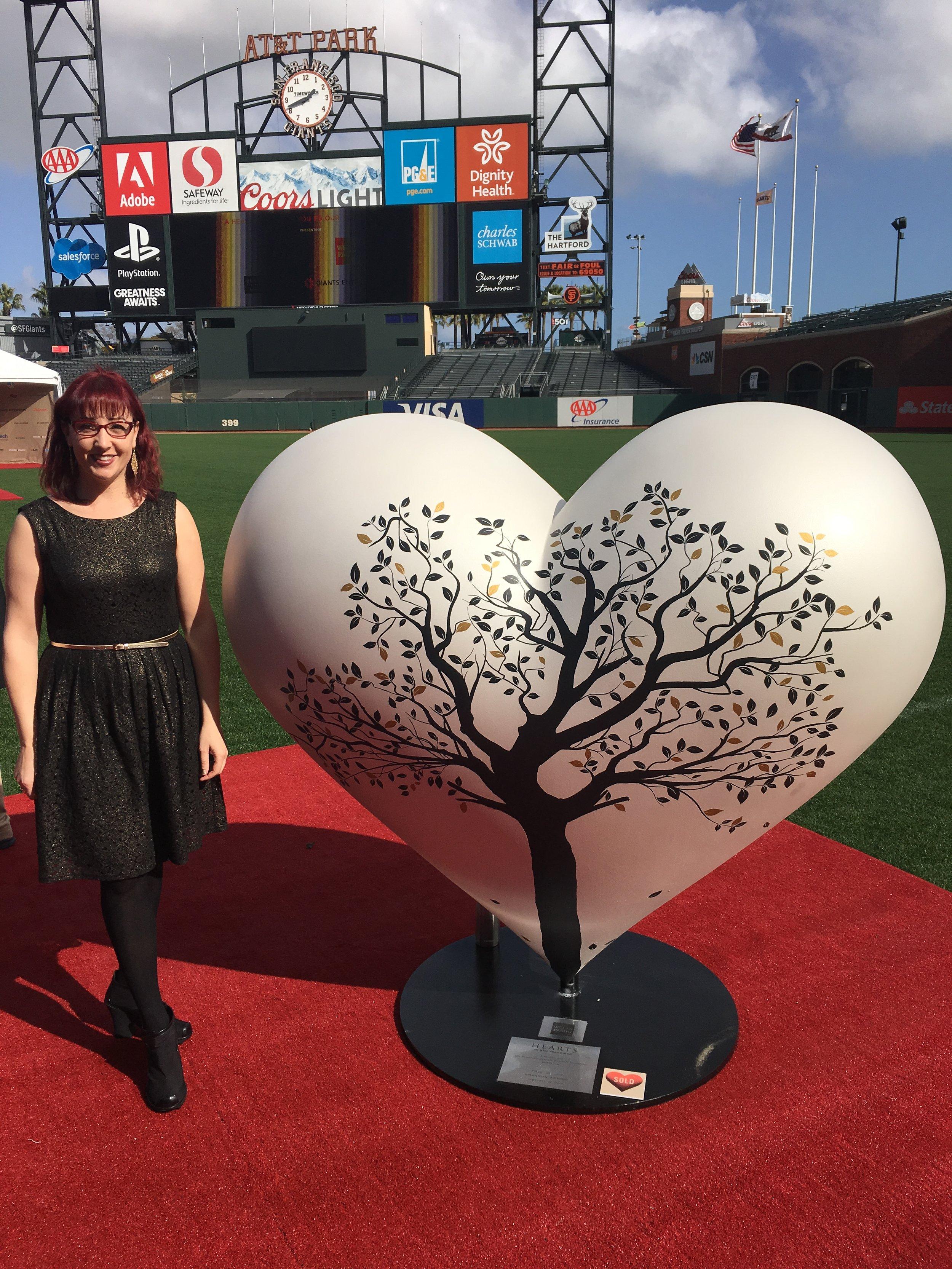 Shannon Amidon Heart at ATT Park