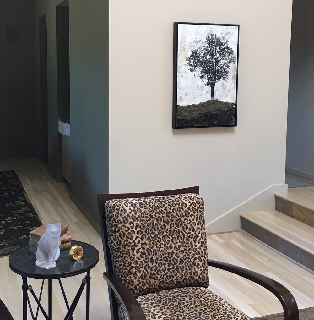 The Chronicler  installed in collectors home in Mill Valley, CA