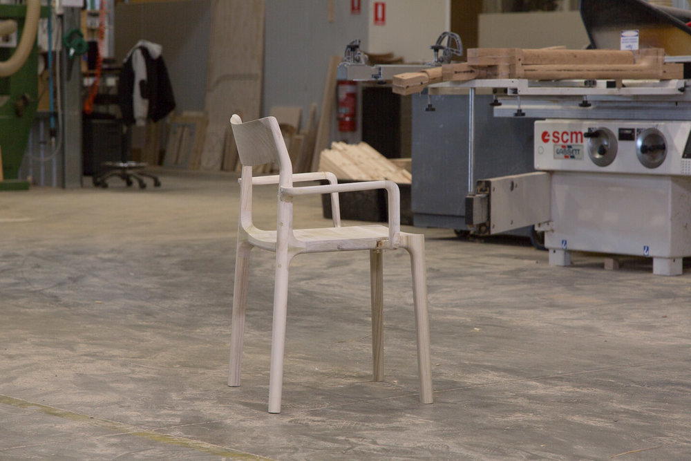 Molloy Chair with arms by  Adam Goodrum