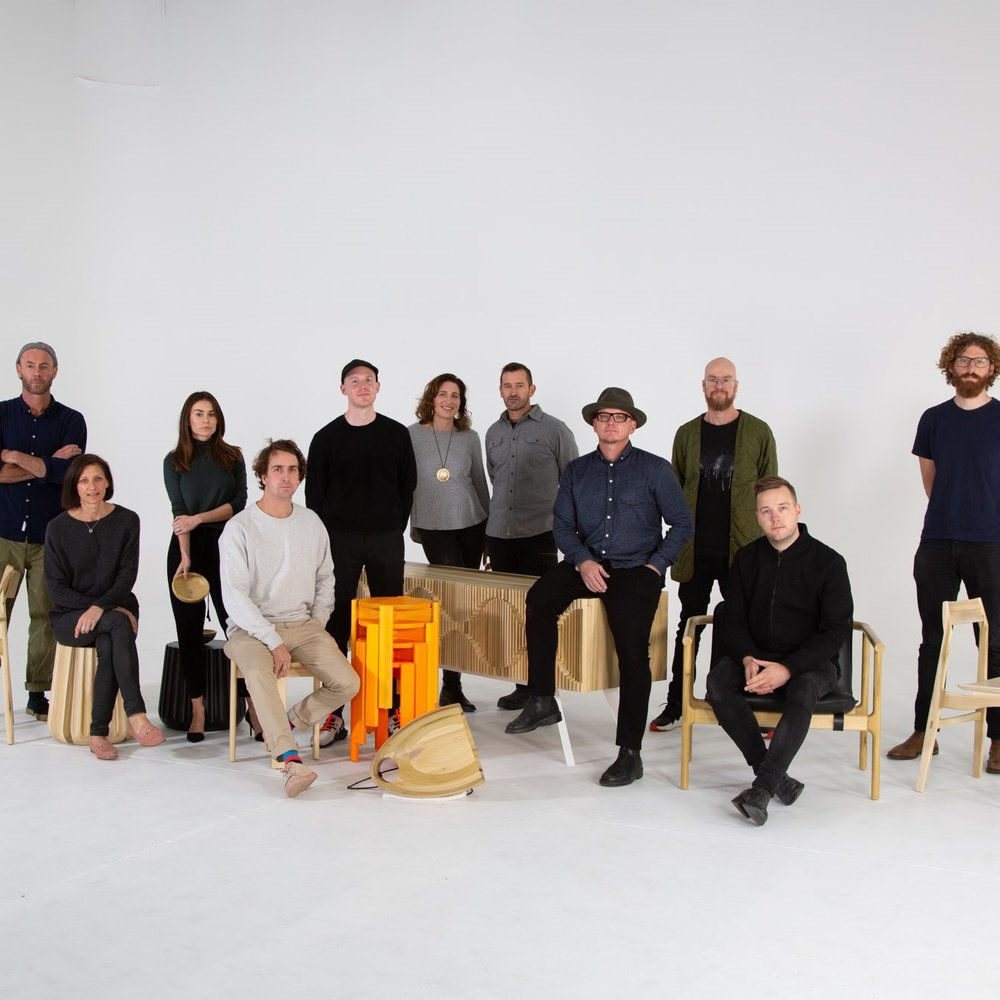 Den Fair with eight iconic Australian designers - Adam Goodrum, Anaca Studio, Marz Designs, Dowel Jones, Jon Gouler, Ross Gardam, Tom Skeehan and Adam Markowitz for  AHEC
