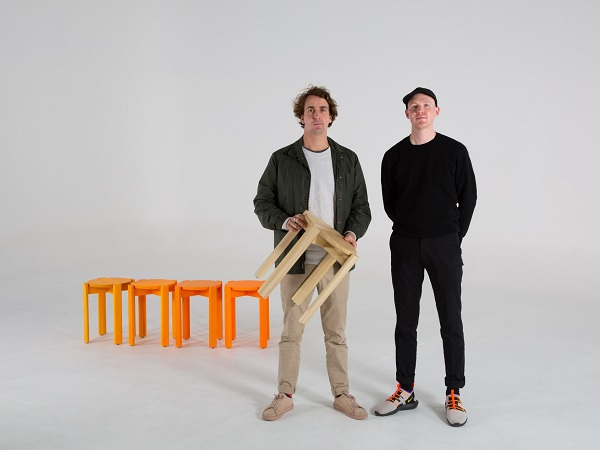 Adam Lynch & Dale Hardiman with the Simon Says Stool available through  Dowel Jones
