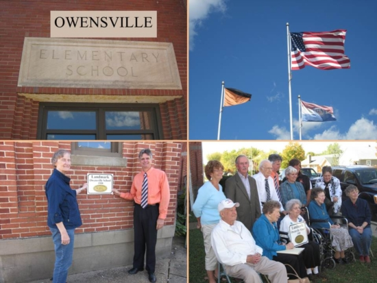 Owensville Elementary School was officially designated as a Gasconade County Century Landmark Site on 13 October 2011.  Click the image above for video of ceremony .