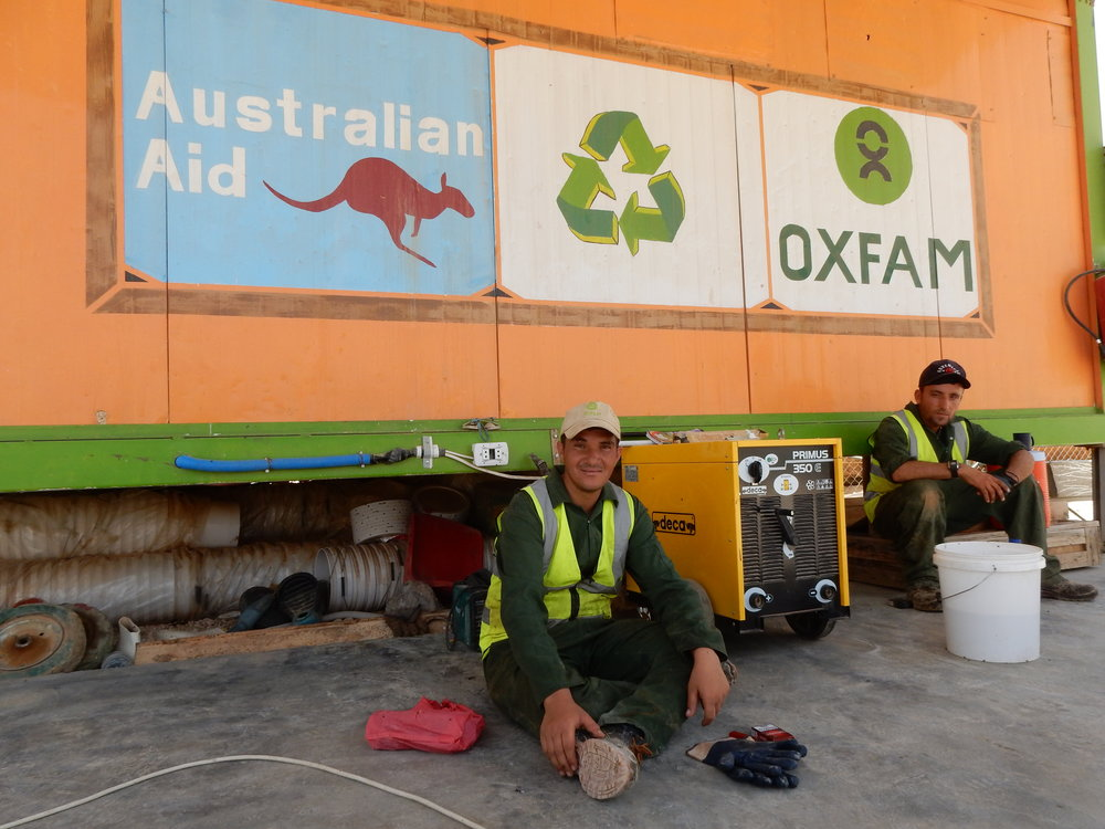 Turning waste into work in Jordan's Za'atari refugee camp ©James Riturban, Oxfam Australia