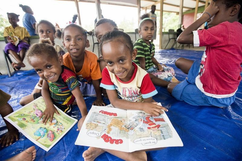 Photo caption: Child friendly spaces established by Save the Children, Vanuatu. Photo credit: Save the Children.