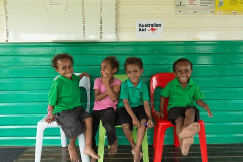 Photo caption: World Vision's Papua New Guinea Education project, funded by the Australian government, focuses on investing in quality education, through early childhood care and development from ages two-seven and education improvement for older students ©World Vision Australia.