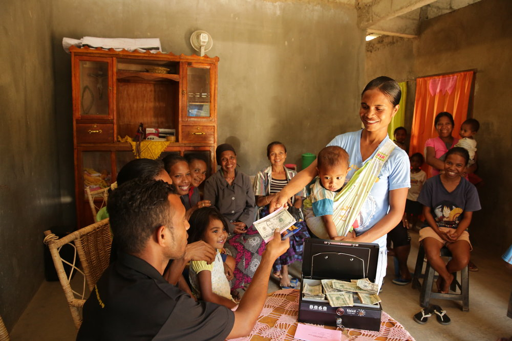 "Photo caption: A savings and loans group in Timor-Leste, part of World Vision's ""Better Food, Better Health"" program ©World Vision Australia."