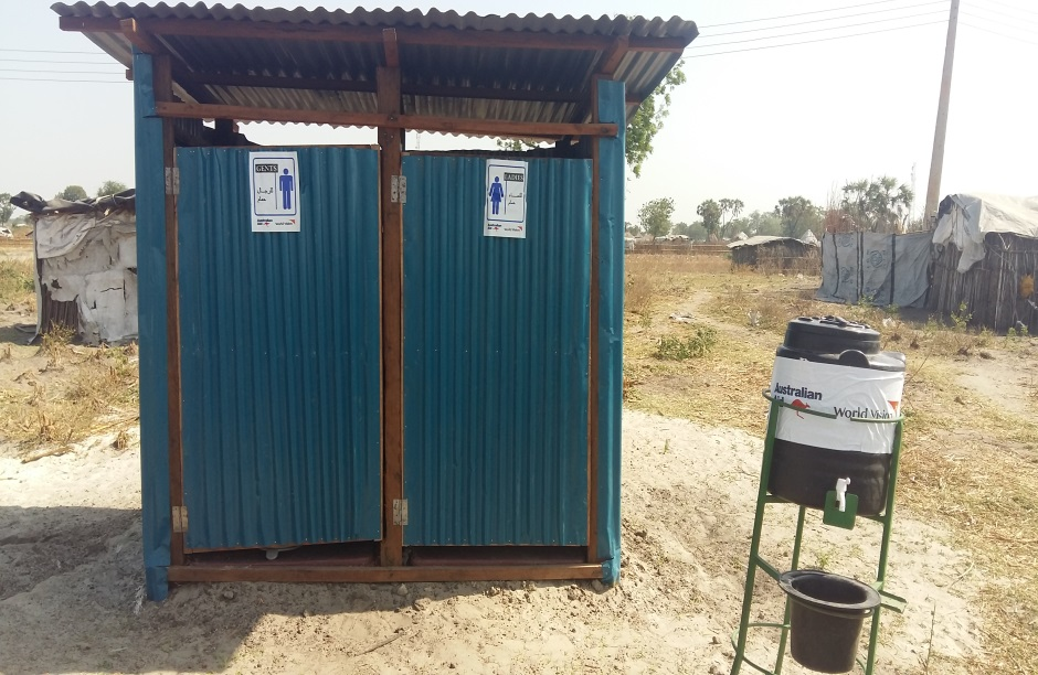Completed HH shared latrine with hand washing facilities in Koch.jpg