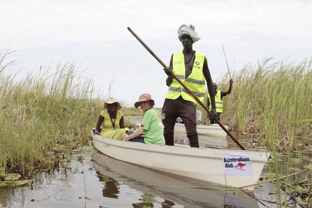 Access to displaced communities in South Sudan is challenging © Oxfam AQustralia