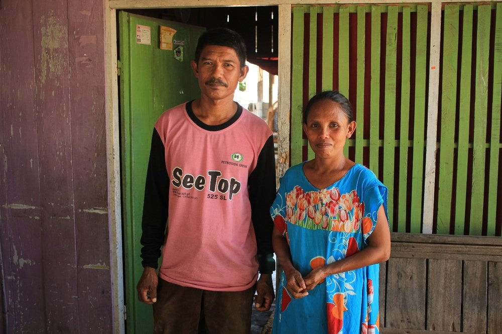 Above: Eliwati and her husband - beneficiaries in Pombewe