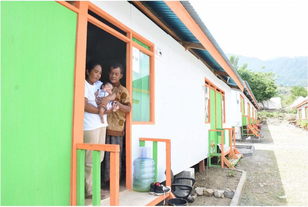 Above: Surahmi, Zulkarnaen and Rahmat in their temporary housing. Photo Credit: Roy Rey, YSTC.