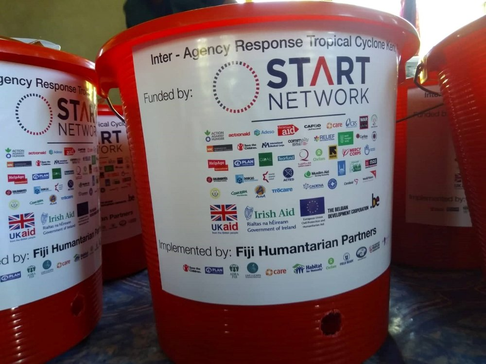 Above: The Fiji Disaster READY consortium worked together to secure funds from the START network to support the humanitarian response to TC Josie and TC Keni. Photo credit: Plan International