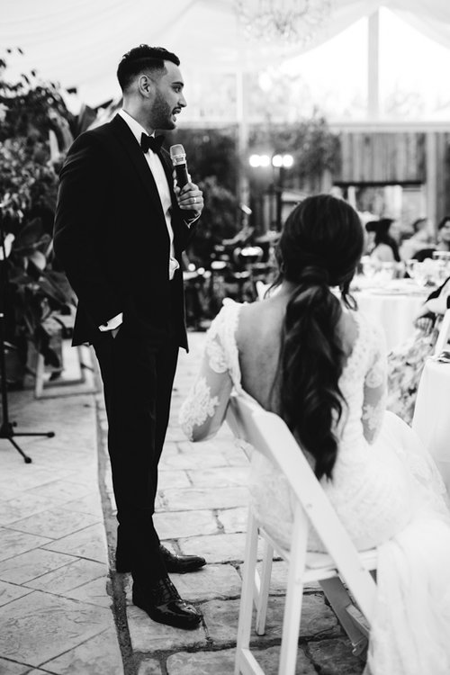 romantic speech groom to bride
