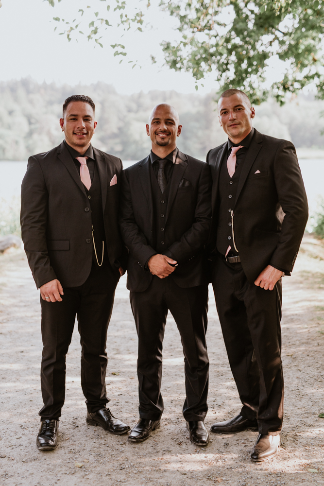 groomsmen on wedding day