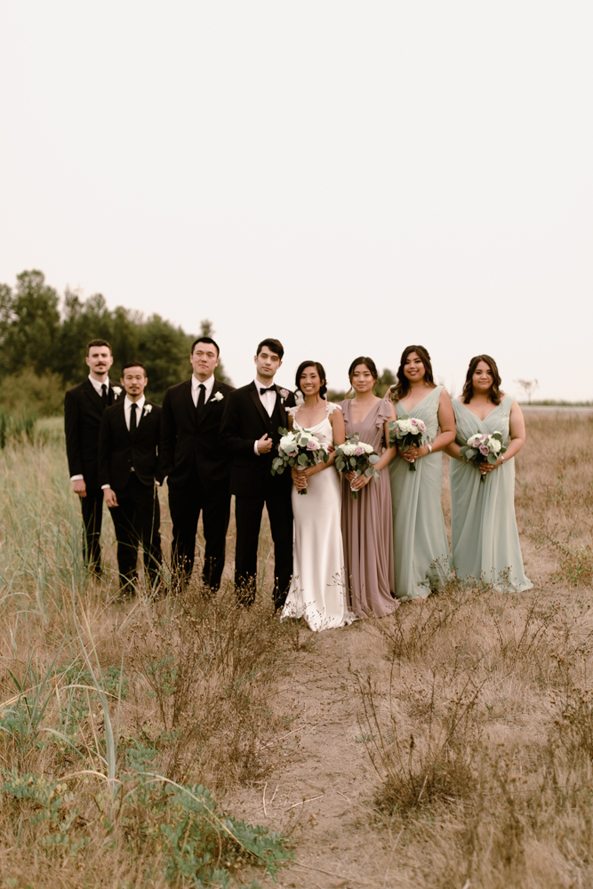 wedding party photo